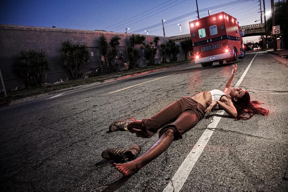 IRONIC DEATH #4  HIT AND RUN BY AMBULANCE