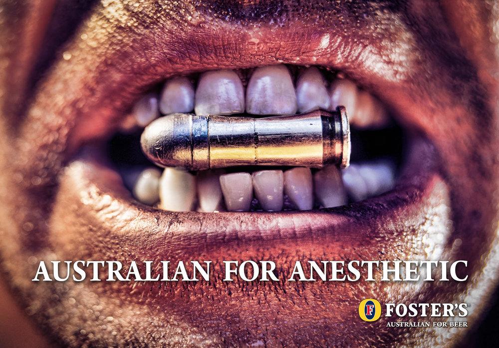 AUSTRALIAN FOR ANESTHETIC FOSTER'S BEER
