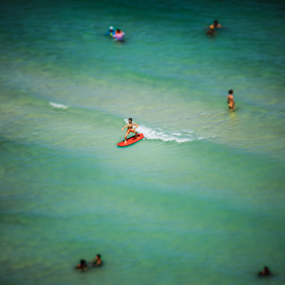 """Model Beach""  Photograph and acrylic sculpture, 69th St Beach, Miami Beach, 2012 Museum Giclée Print, Acrylic mount 46""x46"""