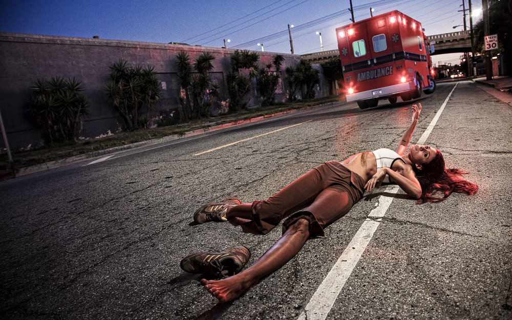 Ironic Death #4 — Hit and Run by Ambulance  2010, Signed Limited Edition of 20   ORDER OR INQUIRE