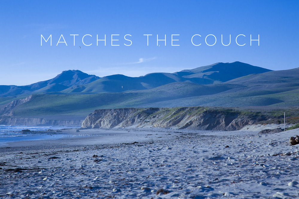 Matches the Blue Couch   2012, Signed Limited Edition of 20    ORDER OR INQUIRE