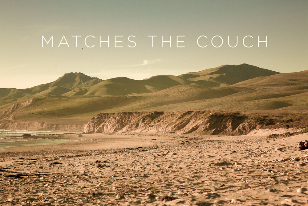 Matches the Yellow Couch   2012, Signed Limited Edition of 20   CLICK HERE TO ORDER OR INQUIRE