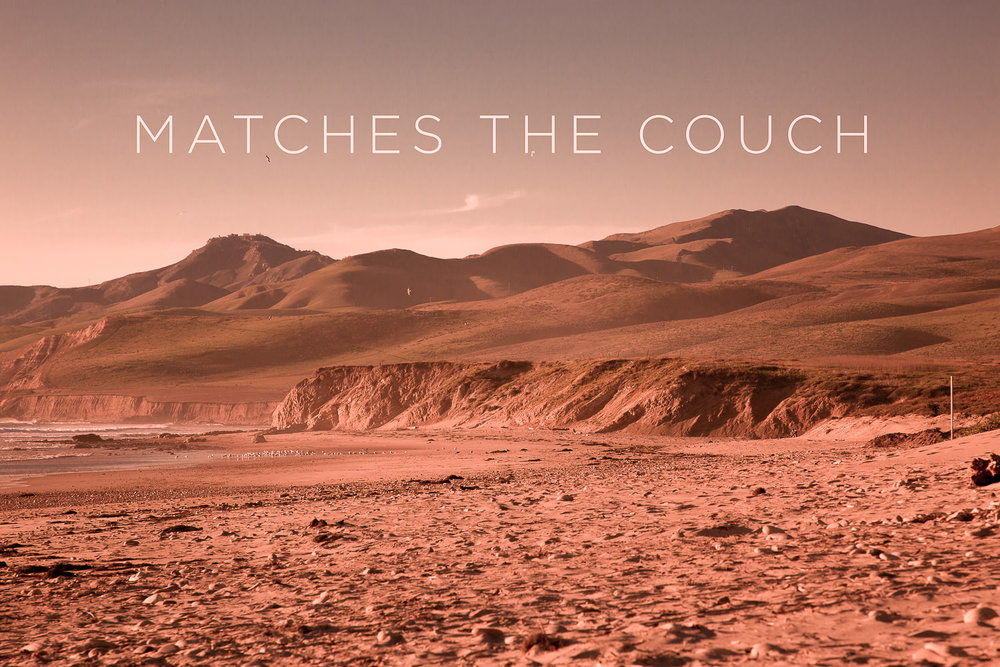 Matches the Red Couch   2012, Signed Limited Edition of 20   CLICK HERE TO ORDER OR INQUIRE