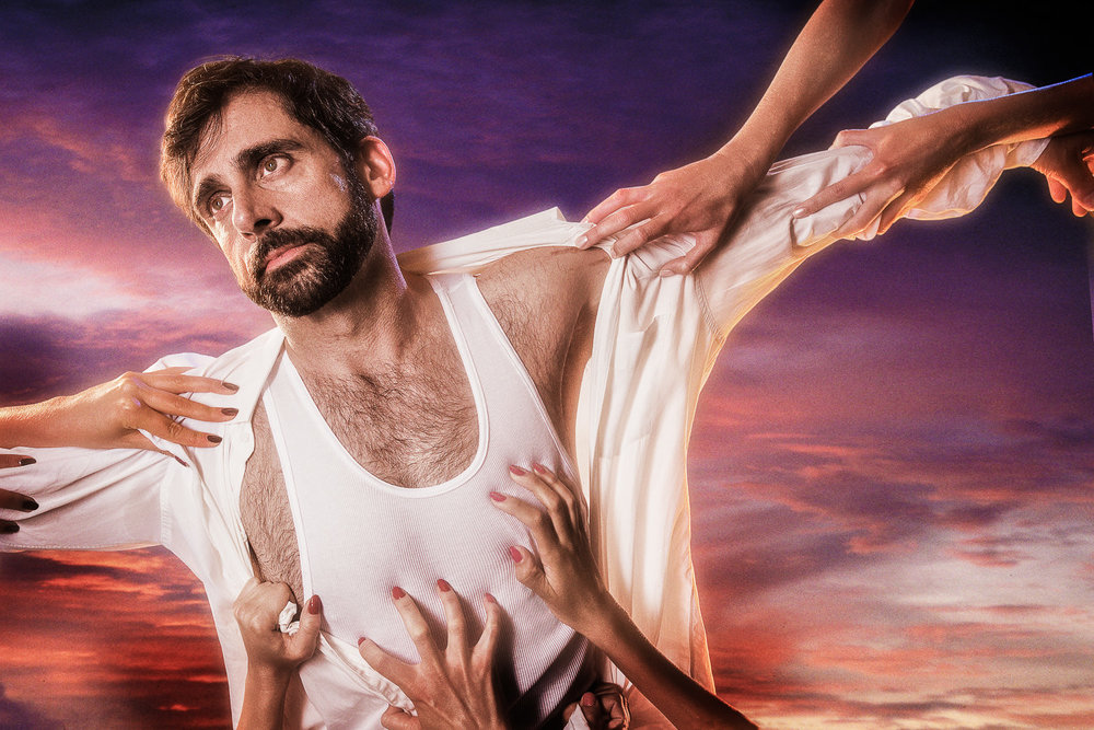 Steve Carell — Crucified by Virgins  2004 Digital Capture  Signed Limited Edition of 20   ORDER OR INQUIRE