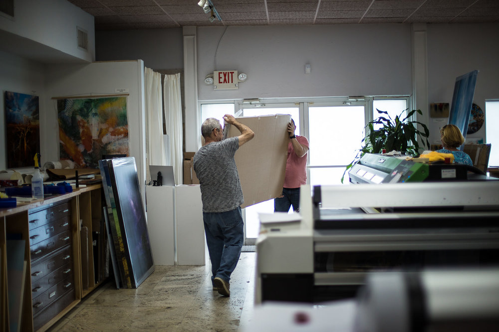 One of Koudis' carefully selected museum print labs, this one in Miami.      ORDER OR INQUIRE