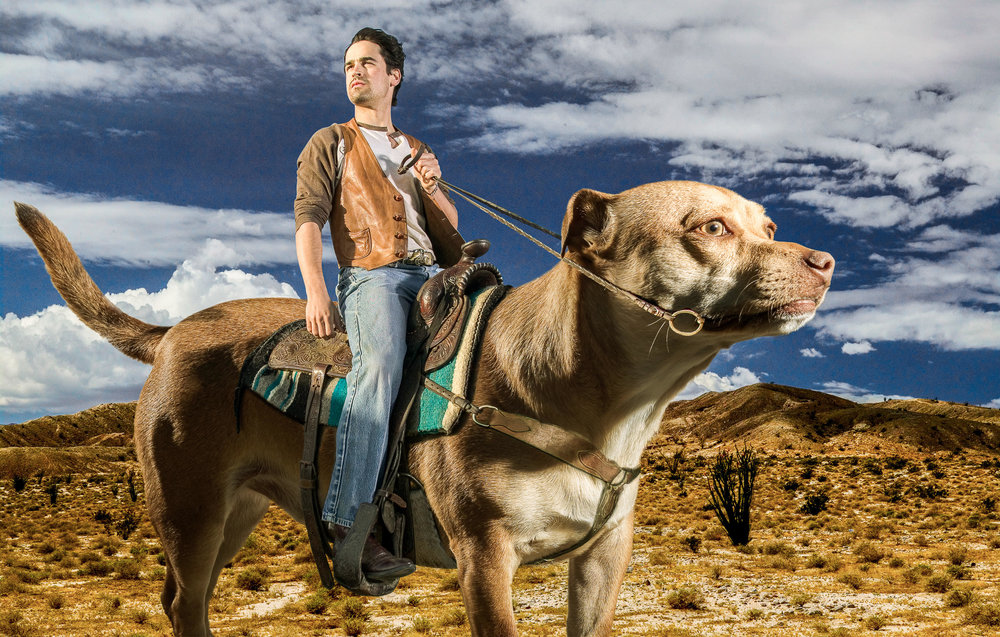 Ride 'em Catboy  Jesse Bradford. Malibu, Palm Desert, and Hollywood Hills 2004, Digital Composite Image Signed Limited Edition of 20    ORDER OR INQUIRE
