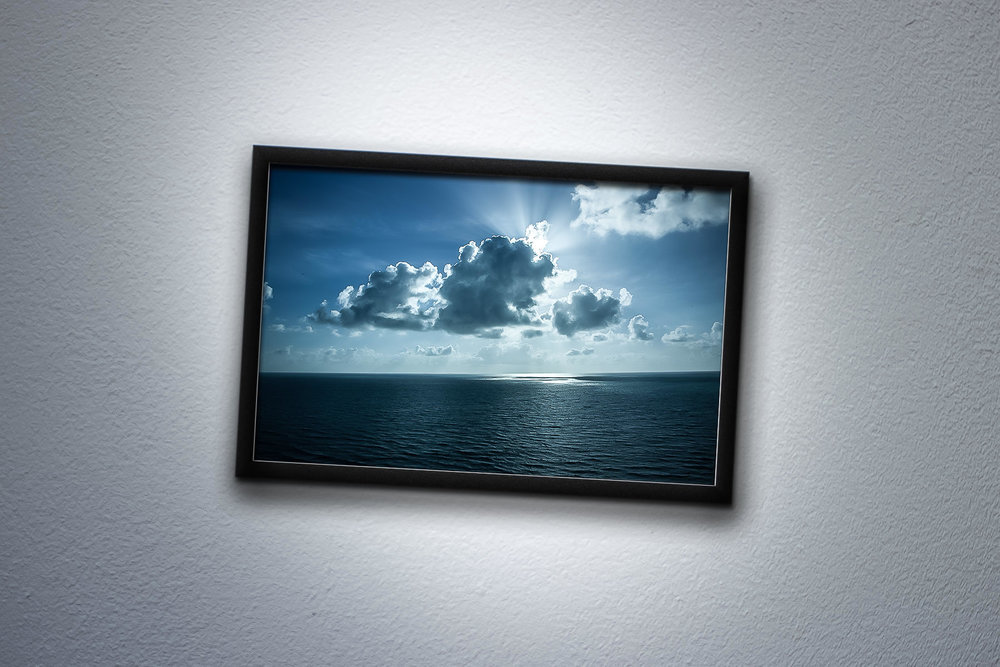Angler's View #4  Image hung askew, leveling the water. 2012, Digital Image. Signed Limited Edition of 20    ORDER OR INQUIRE