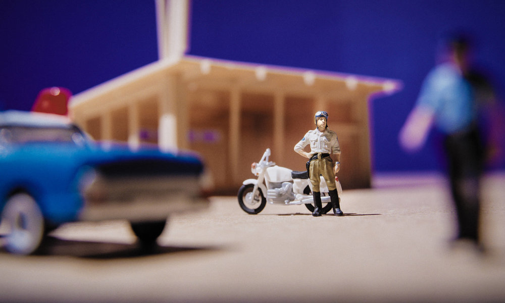 The Model Policeman, Self Portrait of the Artist as a Motorcycle Cop  2012, Signed Limited Edition of 20   ORDER OR INQUIRE