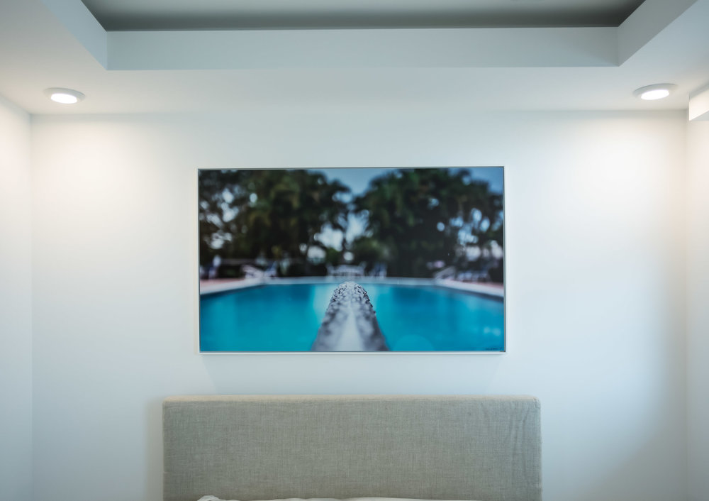 Poolside — Residential Installation    2016 Direct to Metal Print, Matte Finish igned Limited Edition of 20   ORDER OR INQUIRE