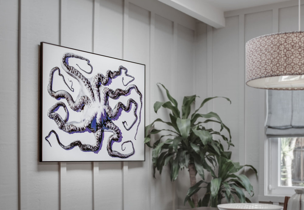 """Octopus Untied — Number 1""   Now living on the wall of a Los Angeles Creative Director. Stunning Direct Print on Metal from WhiteWall Germany. 30""x40""   ORDER OR INQUIRE"