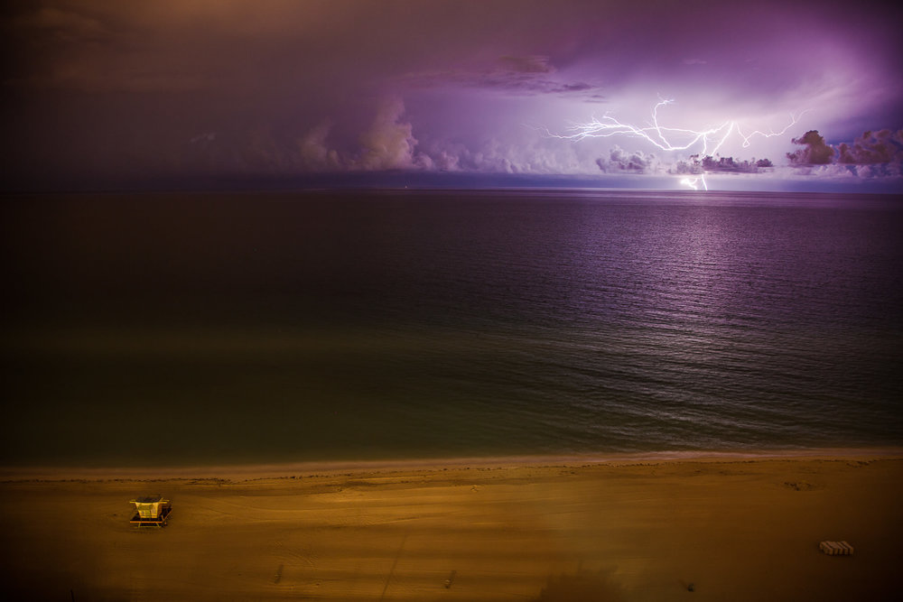 Lightning Strike and Lifeguard Stand