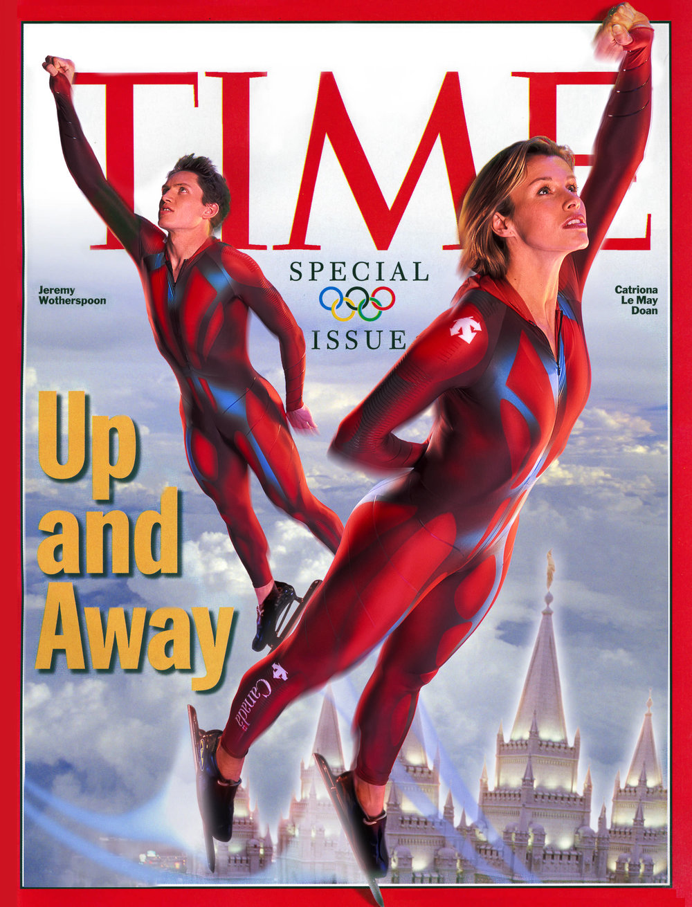 WINTER OLYMPIC COVER  TIME MAGAZINE