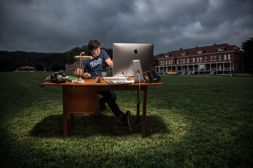 Film Editor and Founder of Pixel Power Post, Pablo Piriz. Captured in the wilds of the Presidio, SF.