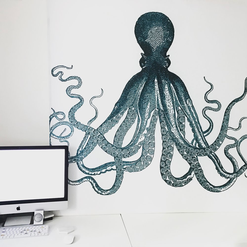 DIY Octopus Shower Curtain Wall Art TORI KRAUT