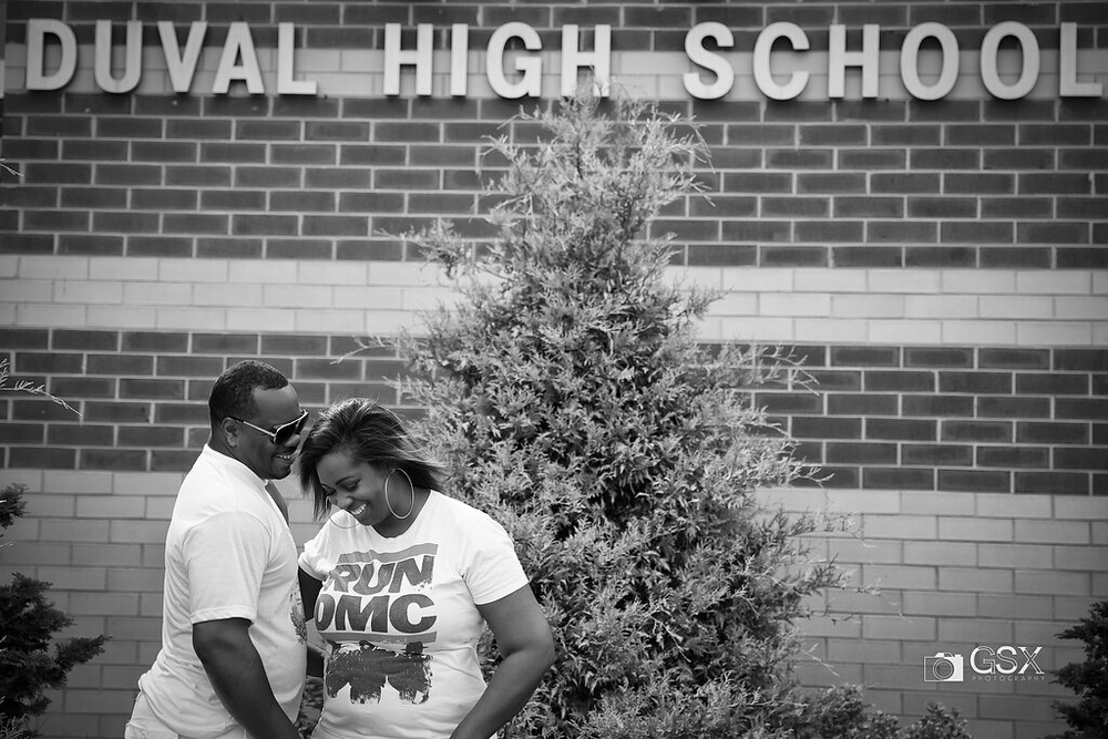 They attended the same high school and found each other a number of years later....funny thing is, that's kinda the same story for me and my wife. Enough about me, back to Brian and Keisha.