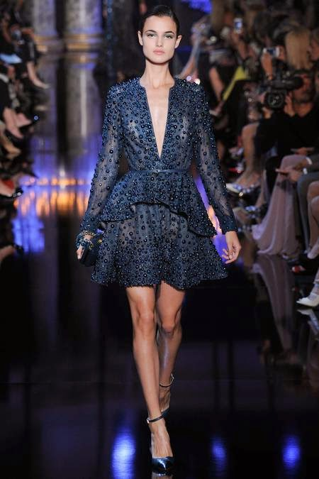 Elie Saab   - I love the detail & deep V, but I think I would alter it more form fitting.