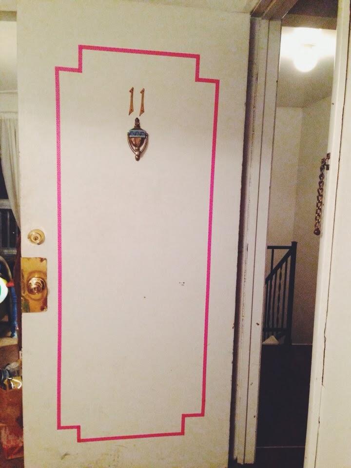 Washi Tape Door DIY & Washi Tape Door DIY \u2014 Martha + Lyuda