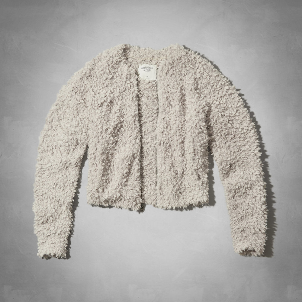 Kaylin Fuzzy Bomber Jacket