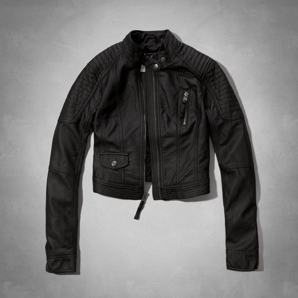 Carley Cropped Moto Jacket