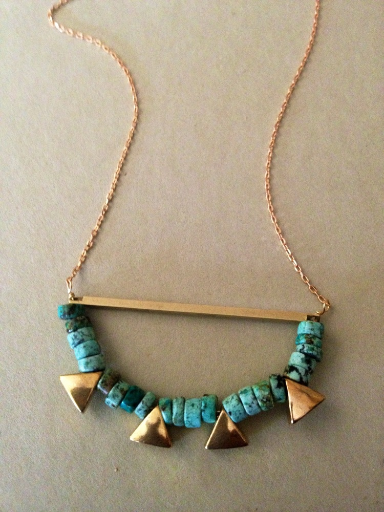 Heishi & Triangles Necklace | $46