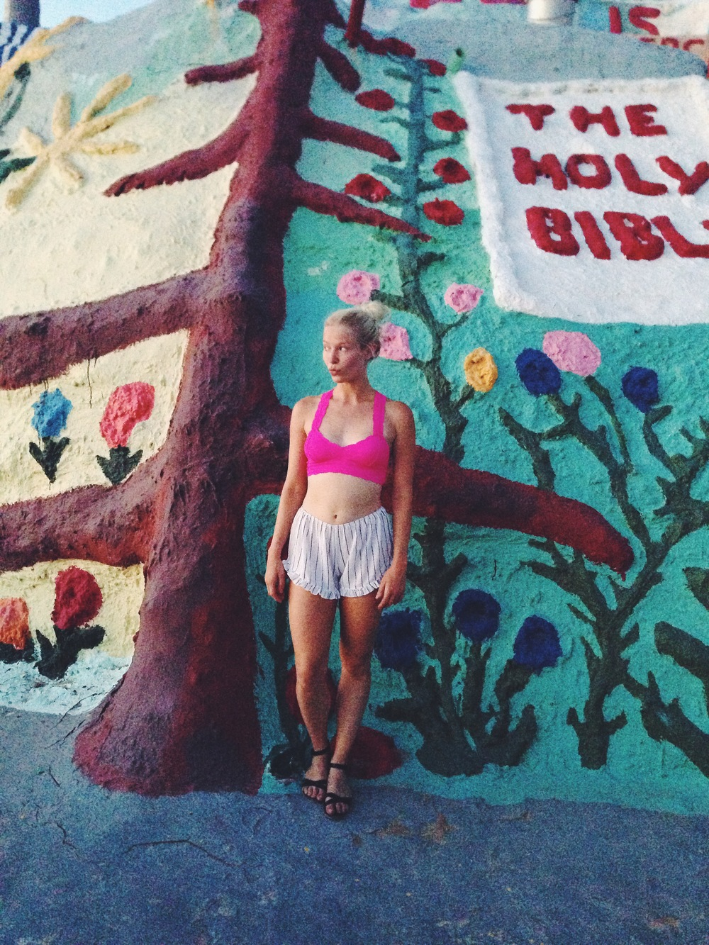 Wearing: Bralette, Free People.Shorts,Brandy Melville.Shoes,J. Crew (Similar).