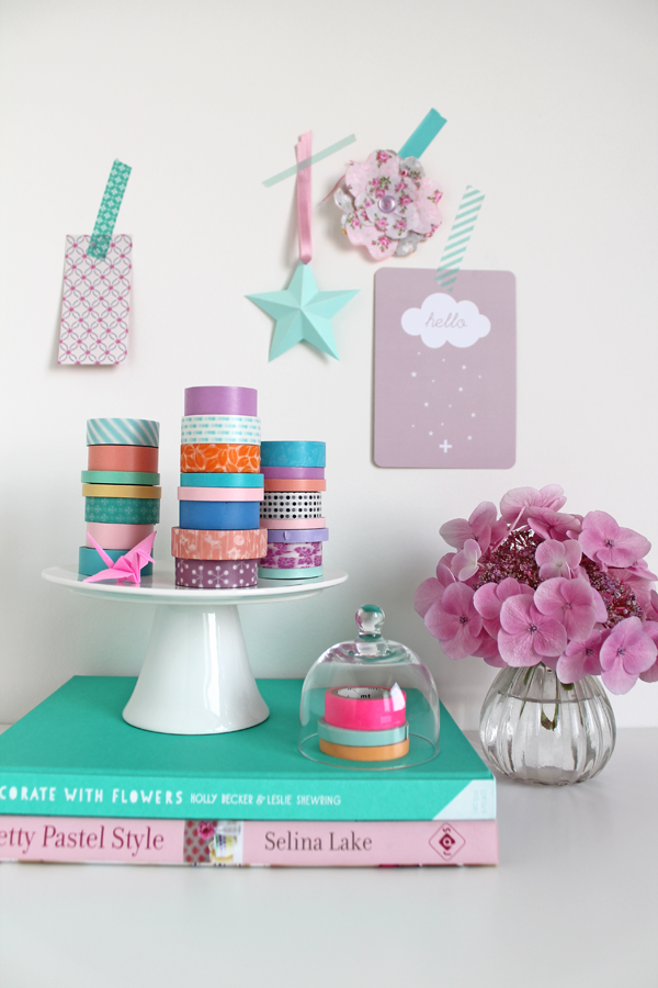 Washi Tape Cake Stand Holder