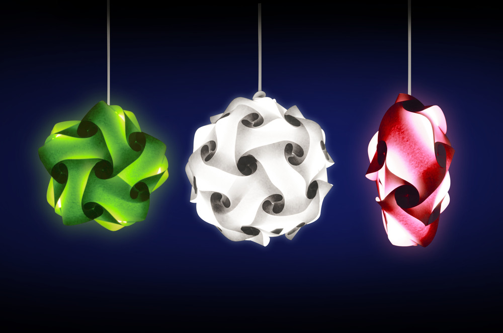 Multi Color IQ Puzzel Lamps