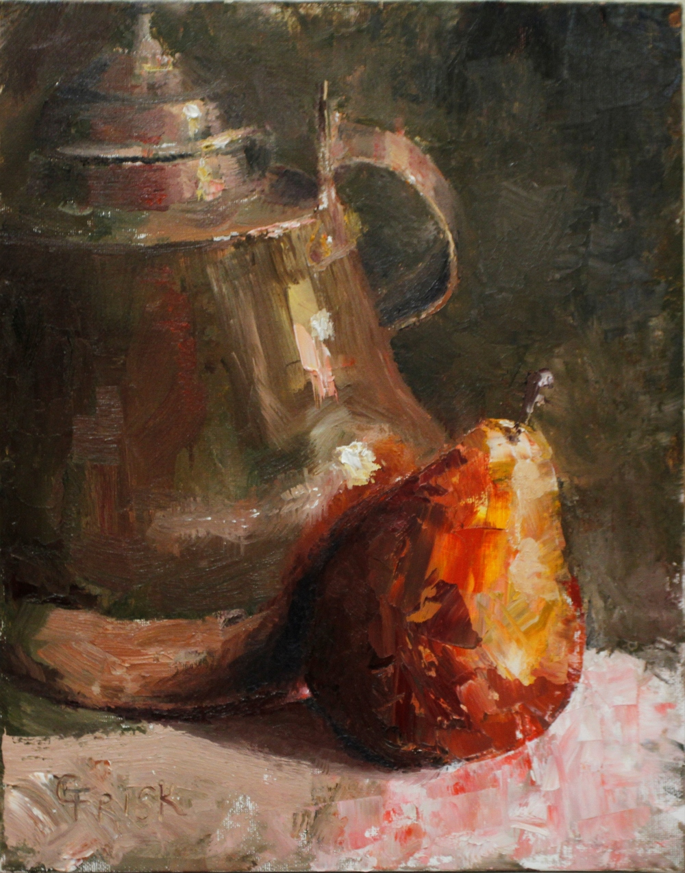 Copper Pot and Pear May 2013 178.JPG