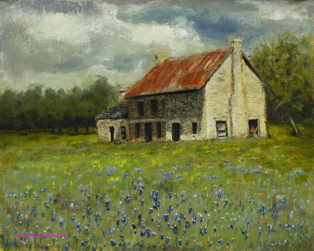 Abandoned Farmhouse with Blueberries 1