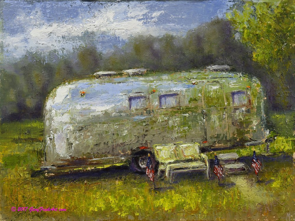 Airstream Dreams 9 x 12 Oil on Linen Panel