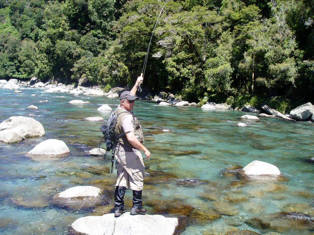 Fly Fishing in South Westland of New Zealand