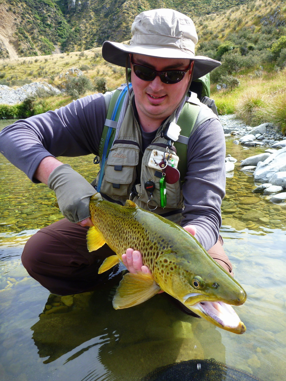 Aspiring Fly Fishing guide Paul Macandrew