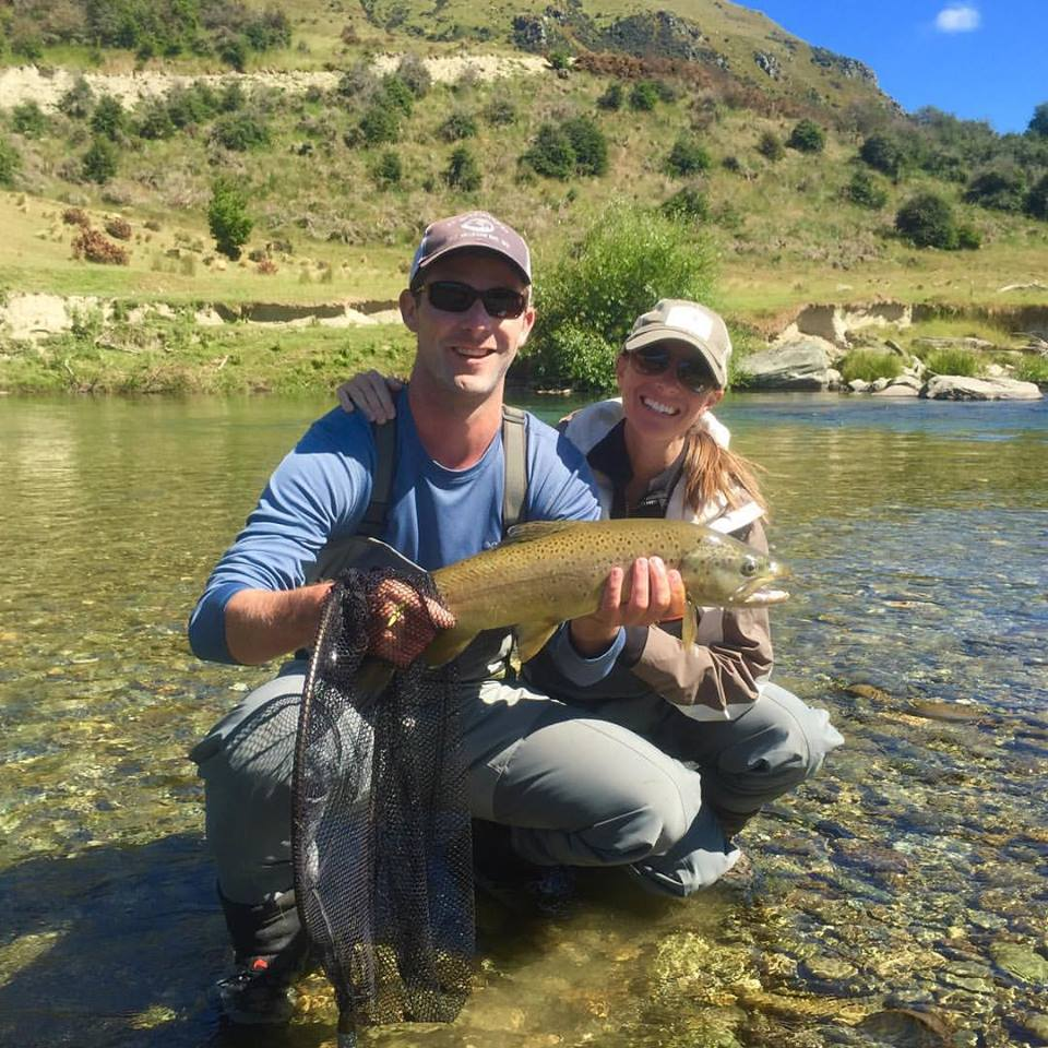 Fly fish new zealand with honeymooners andrew and christie for Fly fishing news