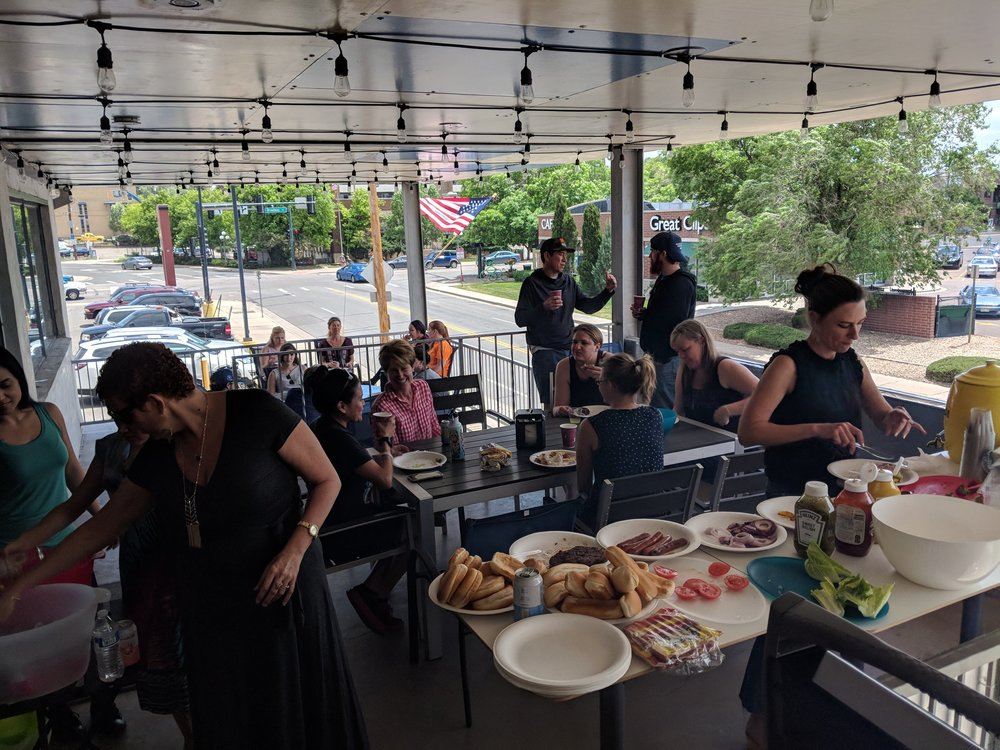 A recent BBQ on the patio at Cobalt!