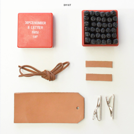 Embossed Leather Tag Kit