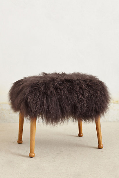 Fuzzy foot stool