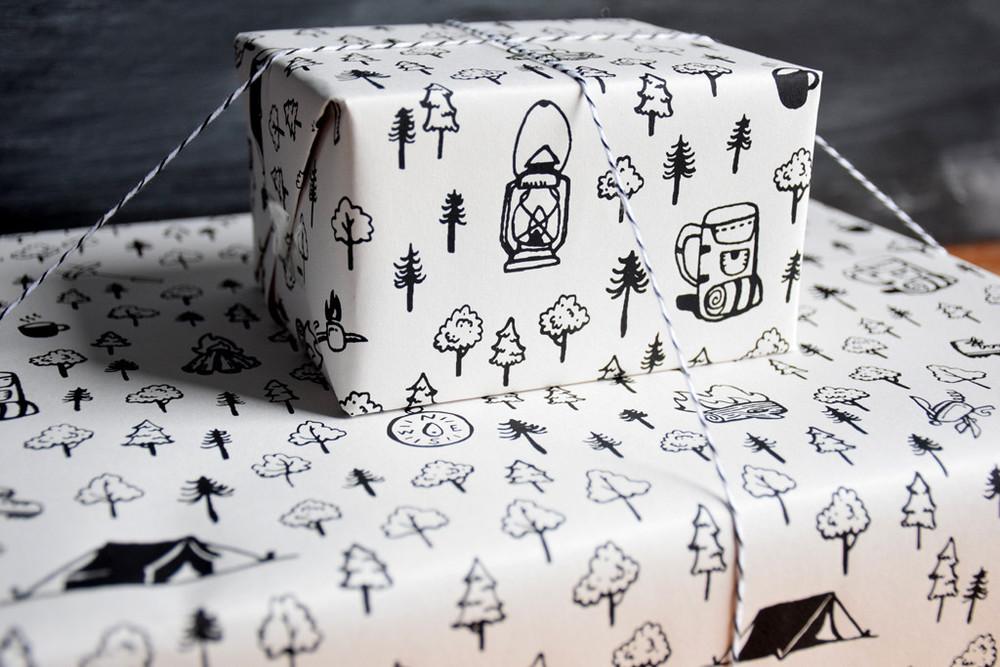 Camping gift wrap