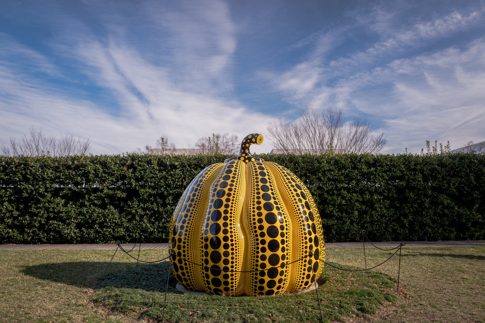 Pumpkins bring about poetic peace in my mind. Pumpkins talk to me. - Yayoi Kusama