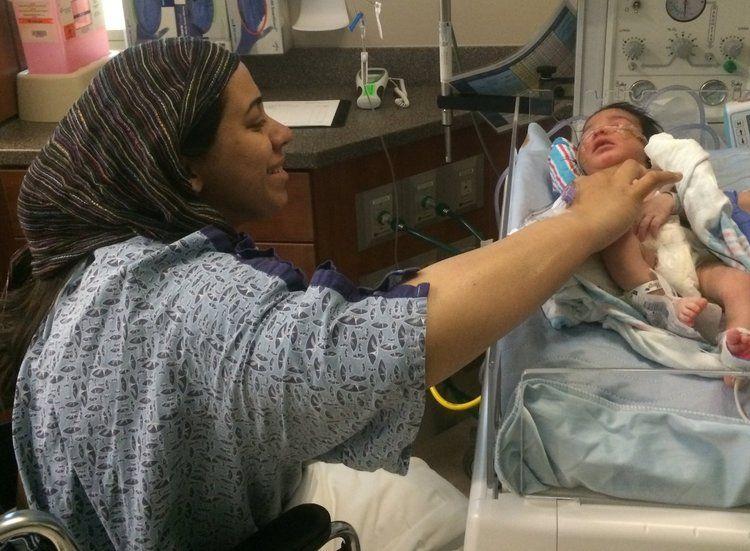 Nadia with baby-Austin Doula