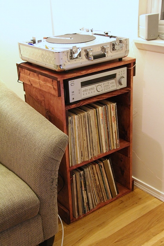 Record Cabinet (2012) - Repurposed Crate Wood