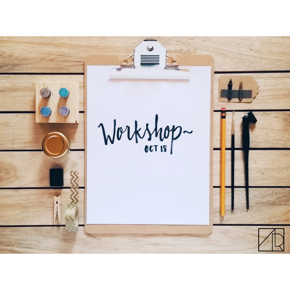 MODERN CALLIGRAPHY AND FREEHAND BRUSH LETTERING WORKSHOP