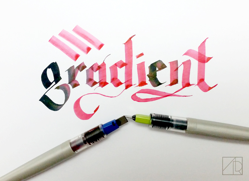 Create gradients with your parallel pens!