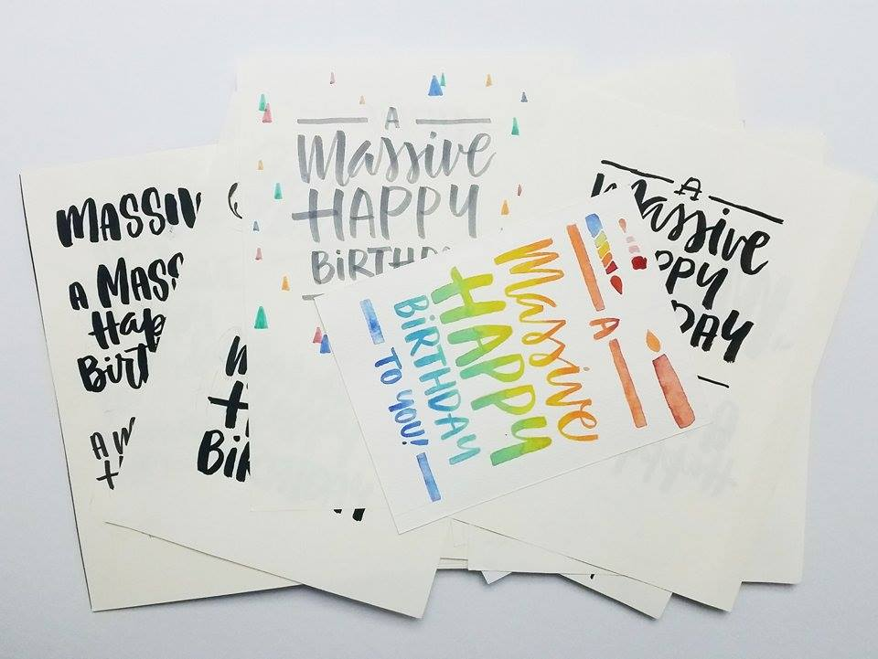 Massive happy birthday anina rubio cardnest is an independent greetings card subscription service based in england its worldwide members receive a monthly delivery of three greetings cards m4hsunfo