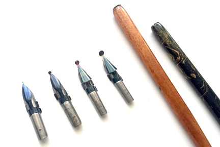 L-R: 0.5mm, 2mm, 3mm, 4mm, and 2 straight holders