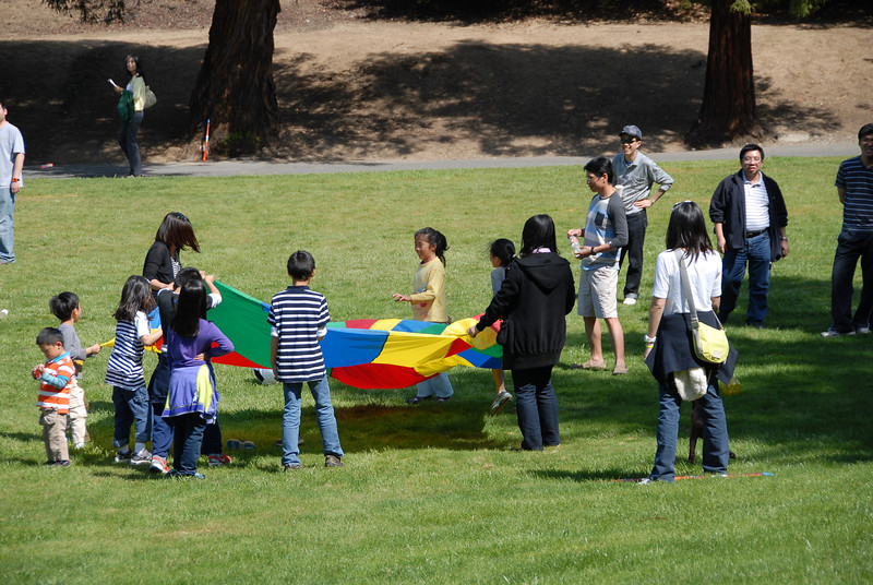 Children play during the 2014 Spring Church Picnic