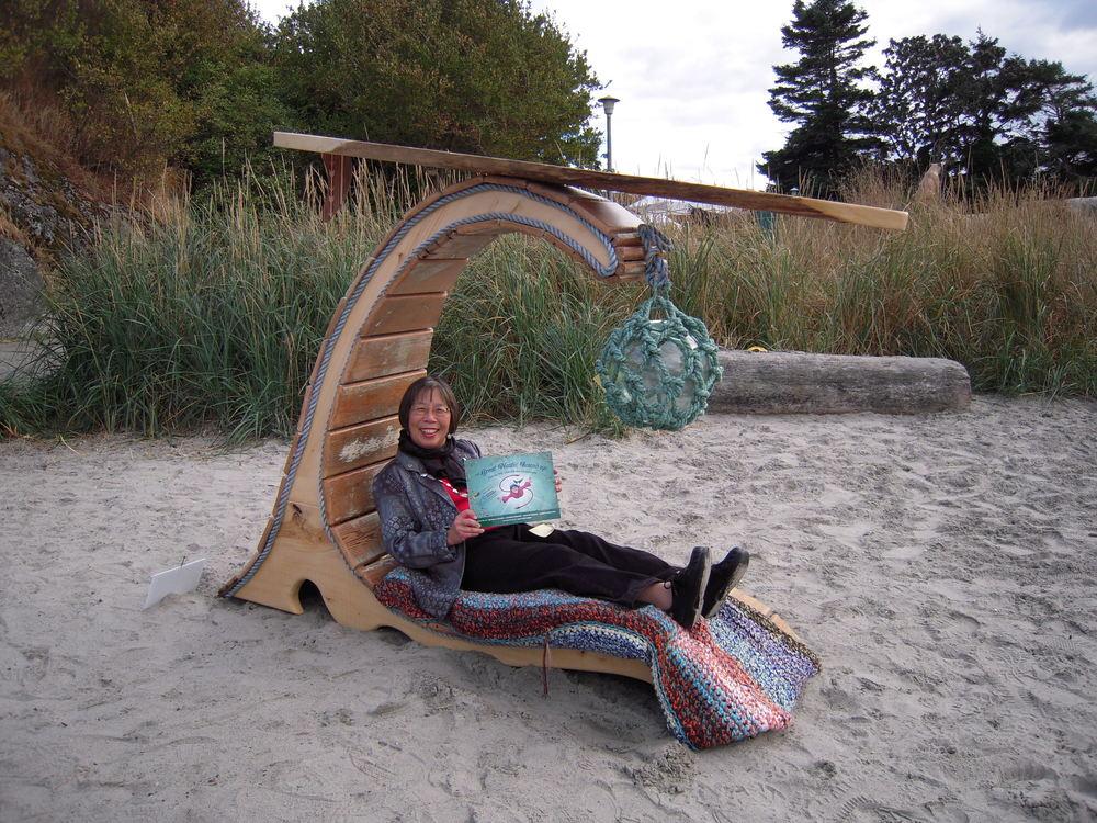 Relaxing at the Esquimalt Sculpture Splash