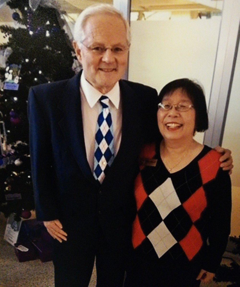 "Happy New Year 2018 ""The Argyle duo"" – Lynda with Mr. Lorne Argyle"