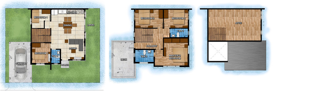 Ground Floor                                    second floor                              attic