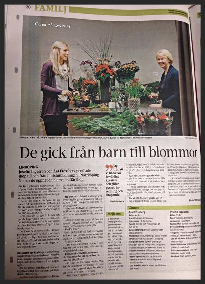 Repotage om oss iCorrenav Linda H Axelsson och Jeppe Gustafsson,28 nov. 2014