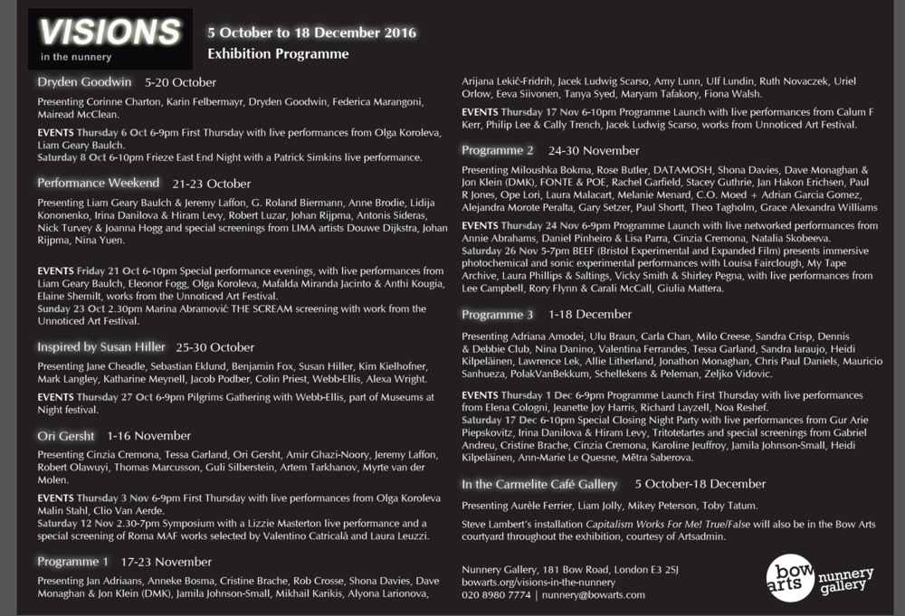 'the conversation ' is showing during the Performance weekend 21-23 Oct.